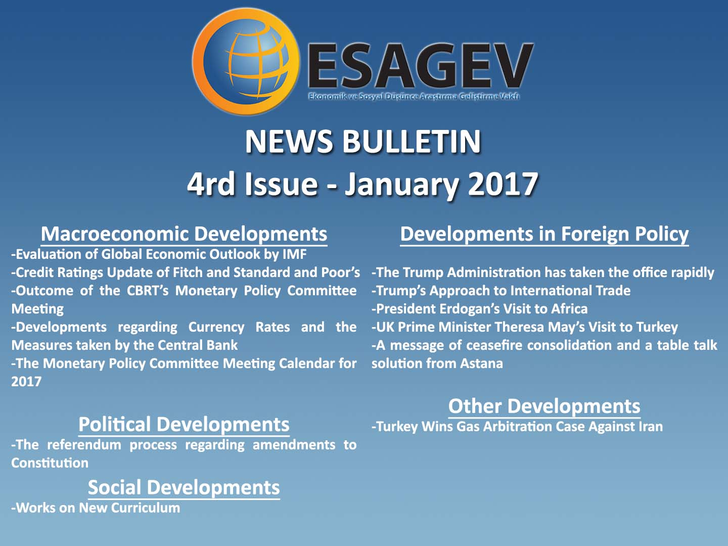 News Bulletin – 4rd Issue – January 2017 (II)